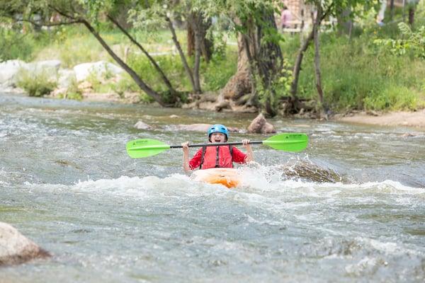 kids kayaking camp