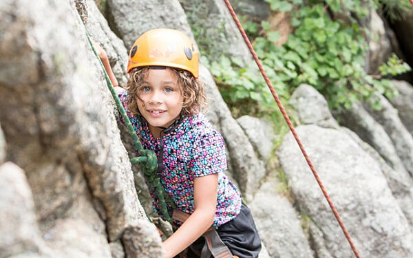 kids rock climbing summer camp