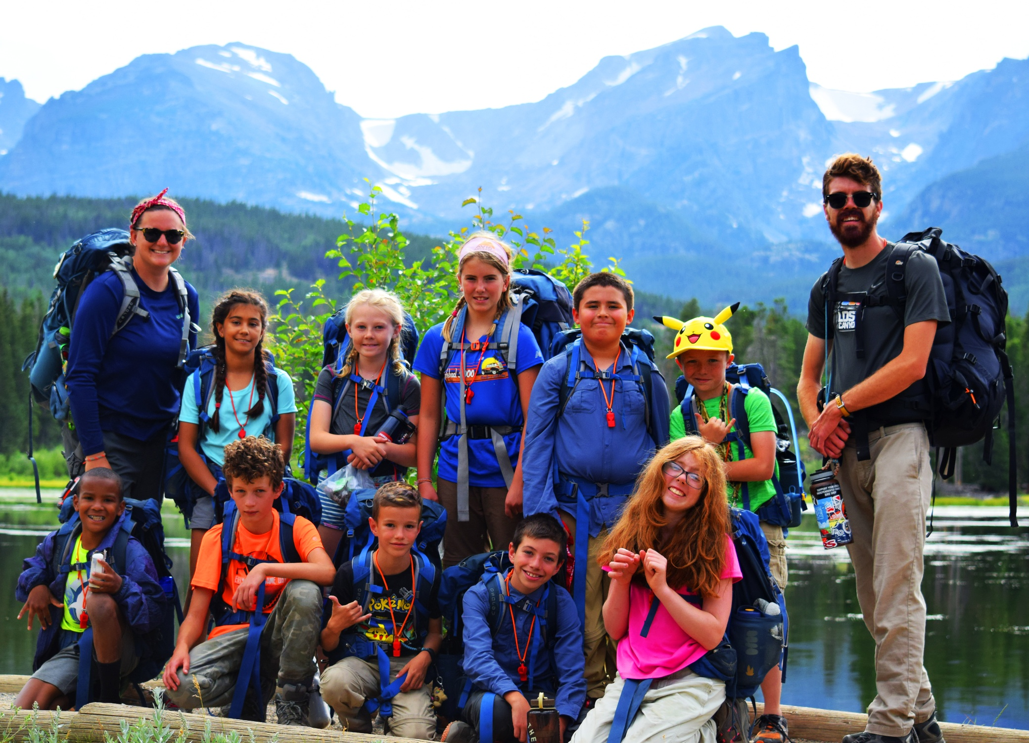 group backpacking in Colorado mountains