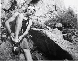 Ethan rock climbing