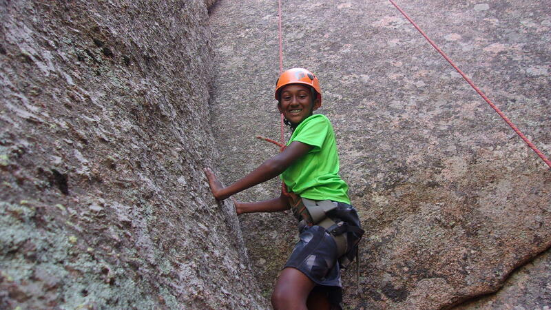 Expedition rock climbing