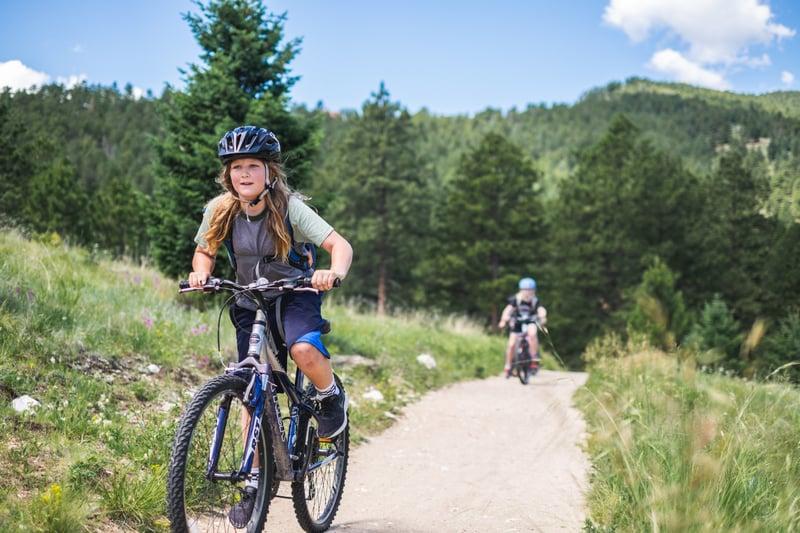 mountain biking camp in colorado