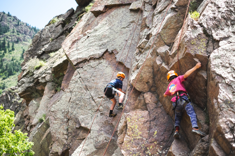 rock climbing camp in colorado
