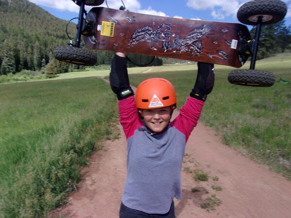 mountain boarding