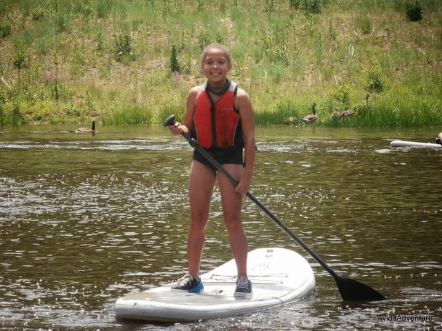 paddleboarding kids