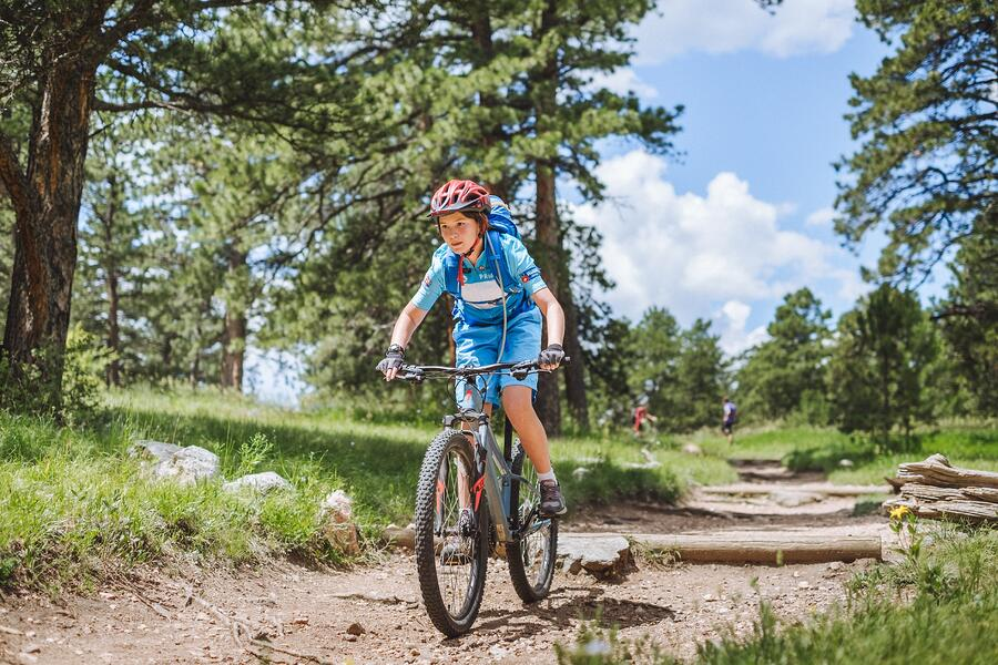 teen mountain biking in Colorado